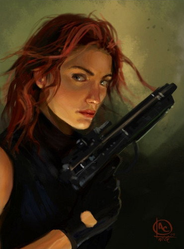Mara Jade Skywalker wallpaper containing a rifleman called Mara