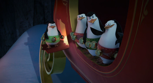 Merry madagascar penguins