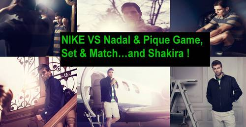NIKE VS Nadal and Pique Game,set a match..and Shakira !!
