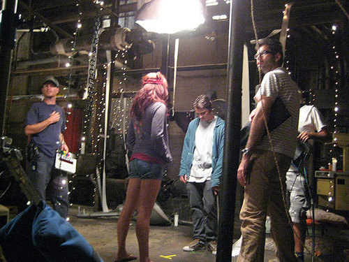 New/Old Foto of Candice behind the scenes on the 'Deadgirl' set!