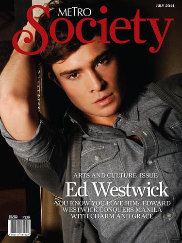 New cover of Ed for Metro Society