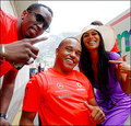 Nick Hamilton,Kanye West & Nicole Scherzinger In Monaco 2008 - lewis-hamilton photo