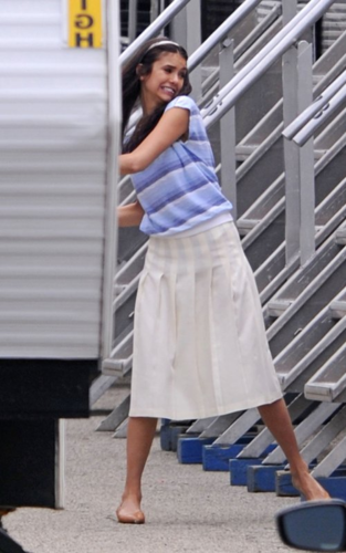 Nina Dobrev in the set of The Perks of being a wallflower