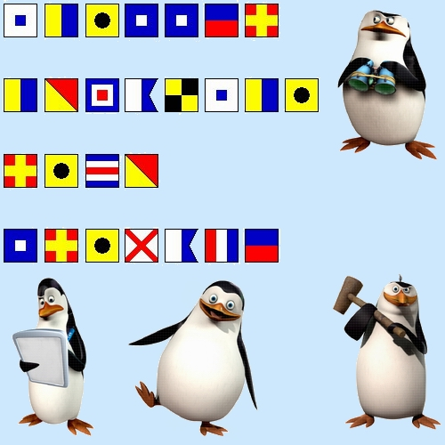 پینگوئن, پیںگان Names with Signal Flags