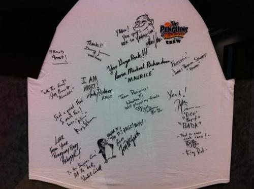 Penguins of Madagascar Crew Autographs