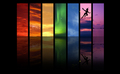Rainbow Skies and Peter Pan wallpaper