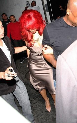 Rihanna at the BET Awards afterparty (June 26).