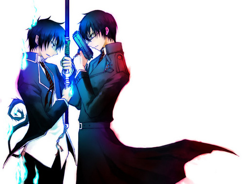 Ao no Exorcist wallpaper entitled Rin and Yukio