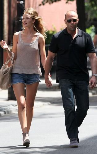 Rosie Huntington-Whitely and boyfriend Jason Statham out in New York City (June 29).