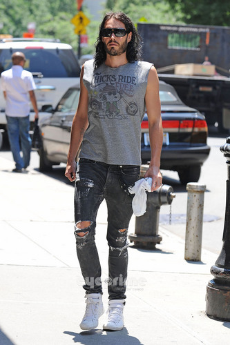Russell Brand is spotted out and about in NYC, June 27