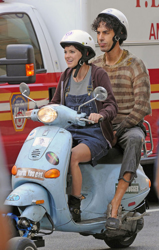 "Sacha Baron Cohen and Anna Faris Film ""The Dictator"" in New York City"