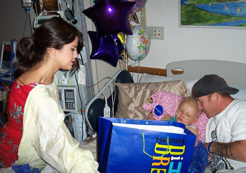 Selena - Visiting a Hospital in Boston - June 24, 2011