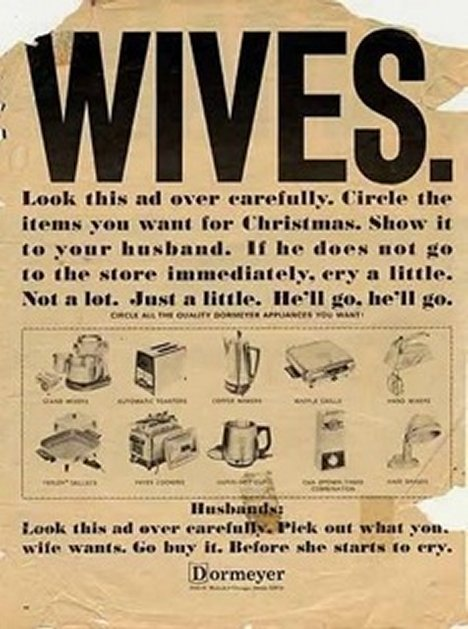 Sexist ads from the 1950's