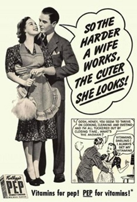 Sexists ads from the 1950's