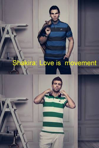 Gerard Piqué wallpaper probably containing a leotard, a singlet, and tights titled Shakira : Love is movement