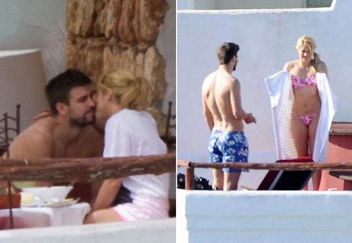 Shakira e Piqué curtem férias em Ibiza