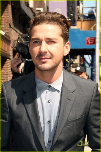 Shia Arrives @ David Letterman Studios