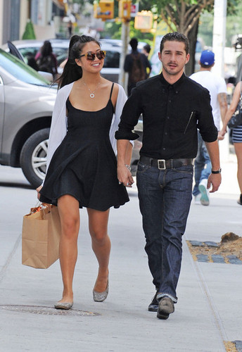 Shia in New York City with Karolyn Pho.