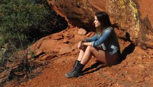 Sophia ブッシュ runs for nature