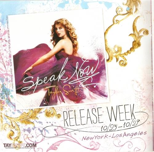 Speak Now Release Week Book
