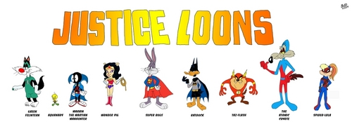Looney Tunes দেওয়ালপত্র titled The Justice Loons