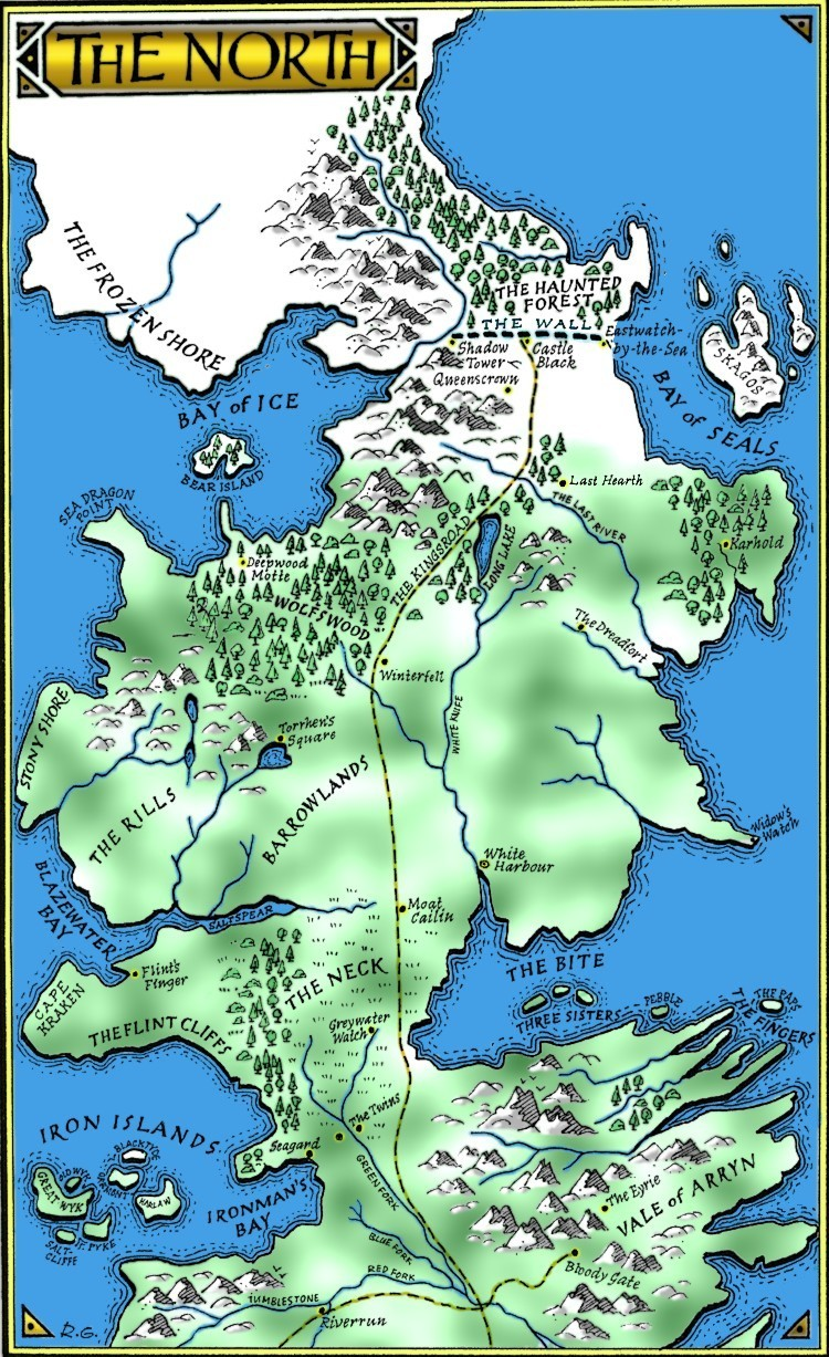 game of thrones the north map