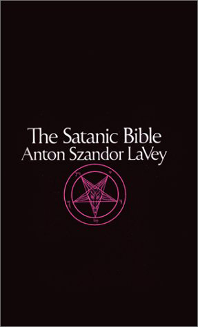 Anton Szandor LaVey Hintergrund probably with a sign called The Satanic Bible