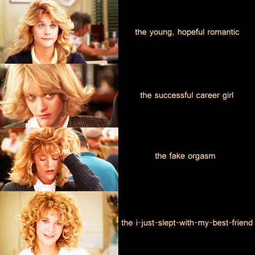 The evolution of Meg Ryan's hair in When Harry Met Sally