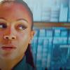 Zoë Saldaña as Uhura foto with a portrait titled Uhura