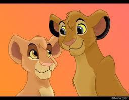 The Lion King wallpaper probably with anime titled Vitani's parents(Tama and Tojo).