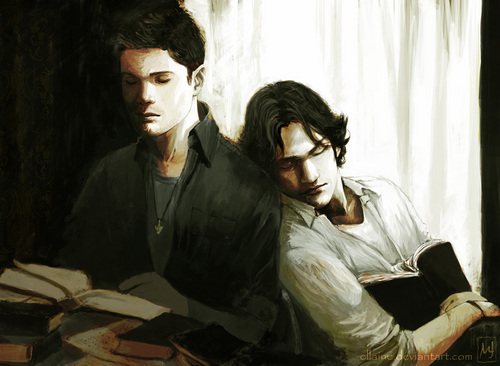 Wincest wallpaper probably containing a sign titled Wincest FanArt