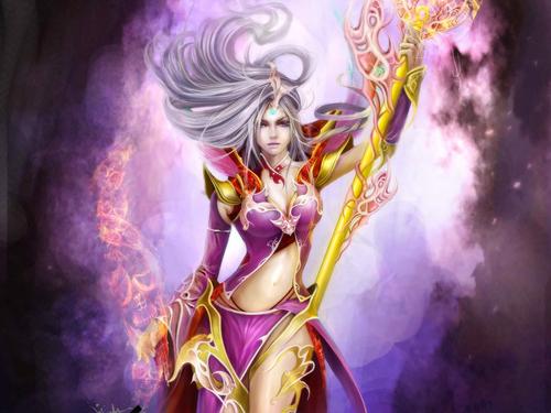 Fantasy wallpaper called Wizard Staff
