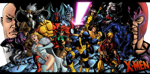 X-Men kertas dinding with Anime called X-men