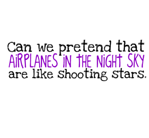 airplanes.