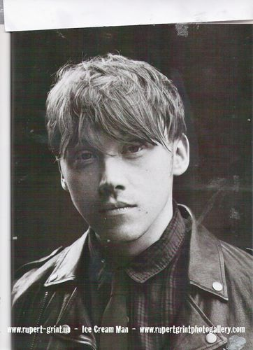 Rupert Grint wallpaper probably containing a green berretto, beret titled attitude magazine scans