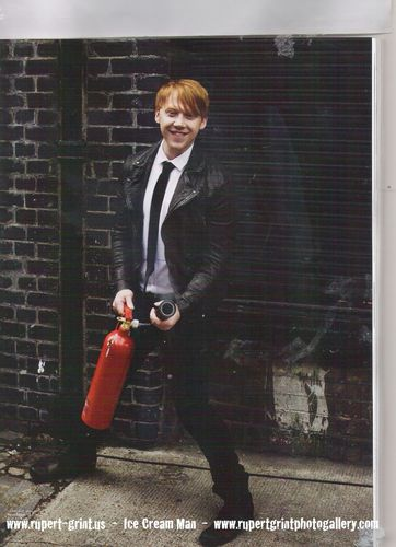 Rupert Grint wallpaper probably containing a business suit called attitude magazine scans