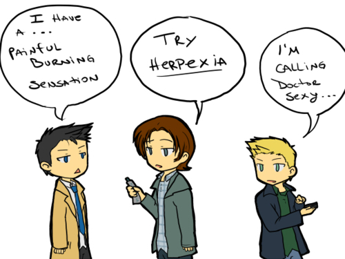 dean, cas, and sam
