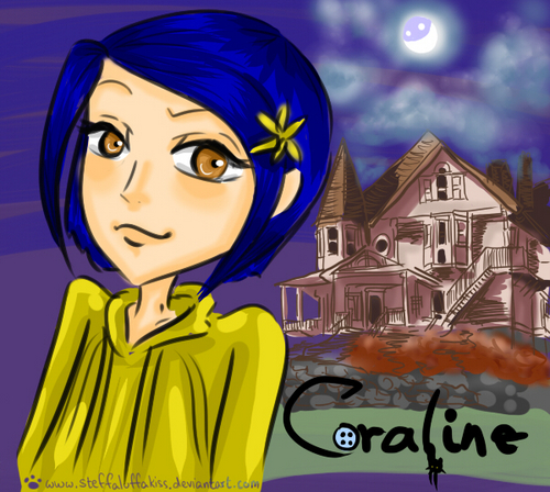 Coraline wallpaper probably containing anime called fan art