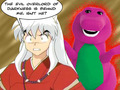 hilarious inuyasha and Barnie