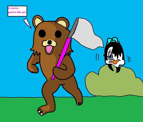 pedo bear wants me!!!!! DX - pedo-bear Fan Art