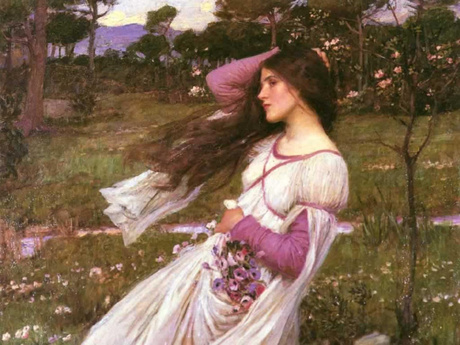 By John William Waterhouse Windflowers
