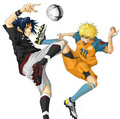 sasuke and Naruto playing FOOTBALL!!!!!!!!!