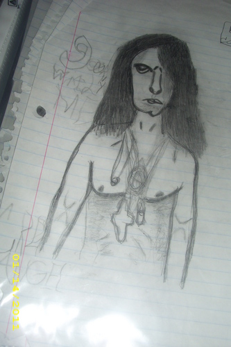 1st Criss Энджел sketch that I ever drew
