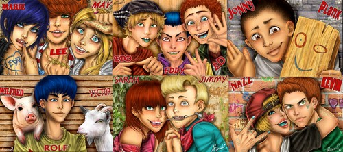 Ed, Edd and Eddy wallpaper probably containing anime called Anime Realistic Ed, Edd, Eddy kids