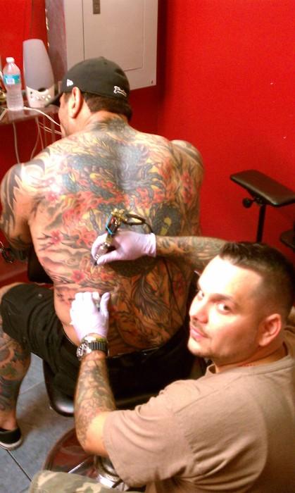Batista 2014 Tattoos Batista leg tat...