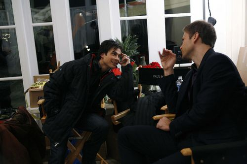 Behind the scenes; Ian and Matt