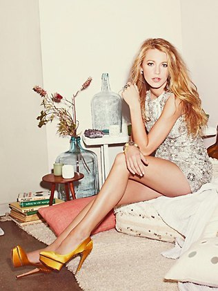 Blake Lively wallpaper probably with a chemise titled New Blake Lively Photoshoot.