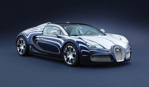 Sports Cars wallpaper possibly with a sports car entitled Bugatti Veyron Grand Sport LOr Blanc