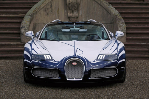 Kereta Sport kertas dinding probably with a sports car titled Bugatti Veyron Grand Sport LOr blanc
