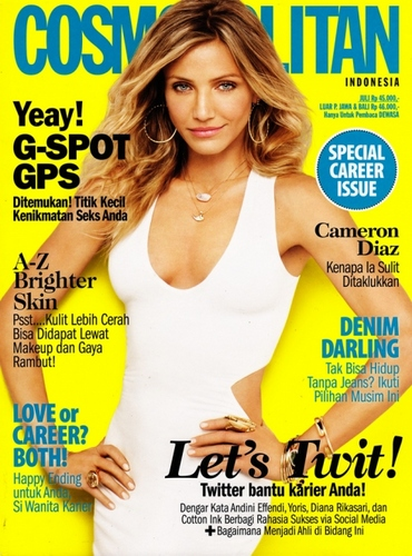 Cameron Diaz for Cosmopolitan Indonesia July 2011